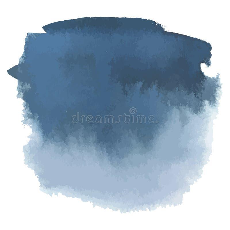 De blauwe grijze banner van de waterverfhand getrokken gradiënt stock illustratie