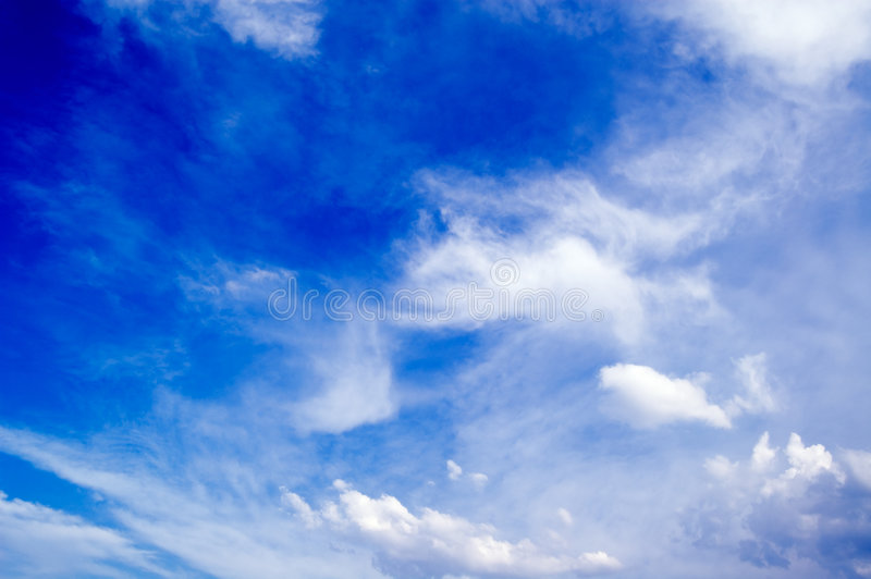 De blauwe hemel. royalty-vrije stock fotografie