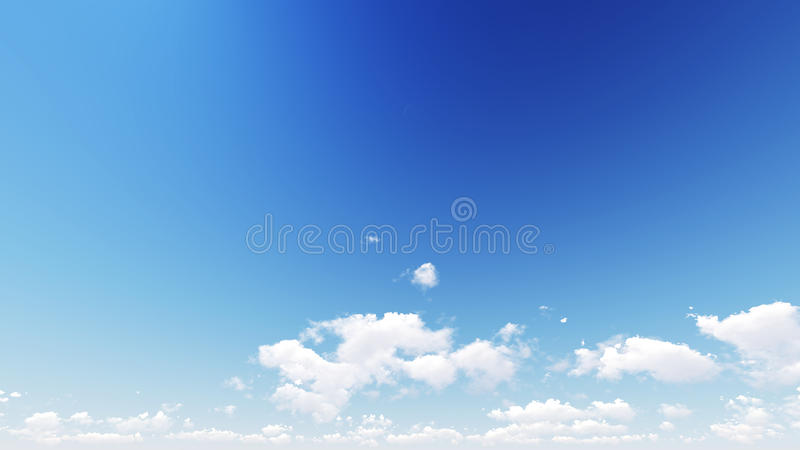 De blauwe hemel in de zomer is zeer helder en warm vector illustratie