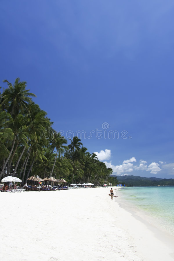 De blauwe hemel van Boracay royalty-vrije stock afbeelding