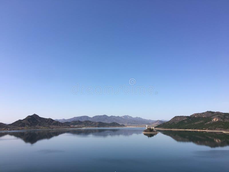 De blauwe hemel van Peking stock fotografie