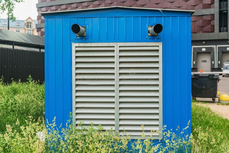 De blauwe het verwarmen postbouw stock afbeelding