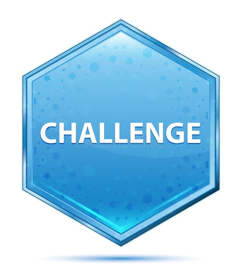 De blauwe hexagon knoop van het uitdagingskristal stock illustratie
