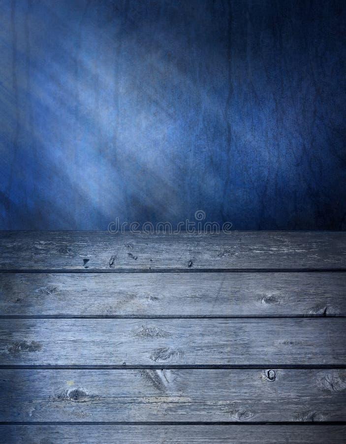 De blauwe Houten Achtergrond van de Oppervlakte royalty-vrije stock fotografie