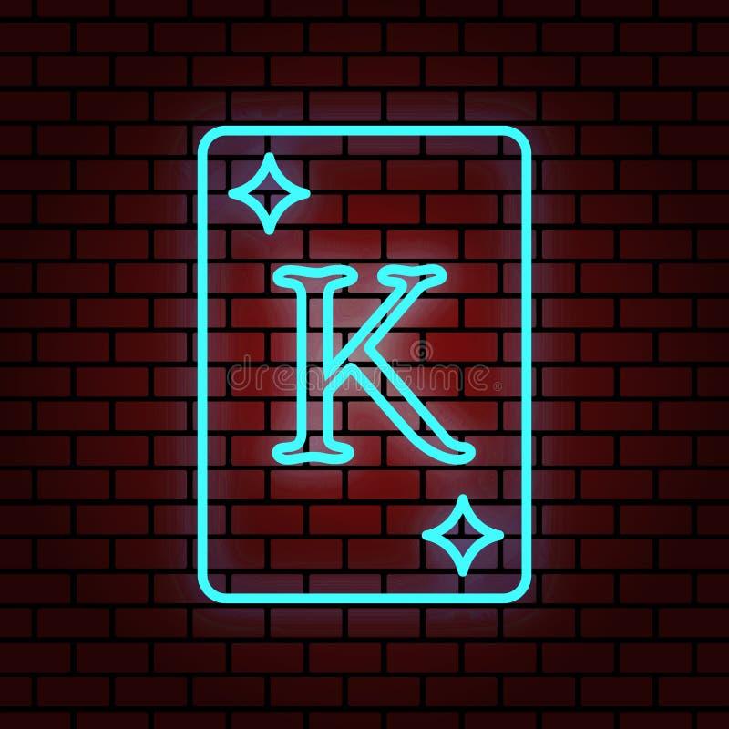 de blauwe illustratie van de de diamantkaart van de T.L.-verlichtingkoning stock illustratie