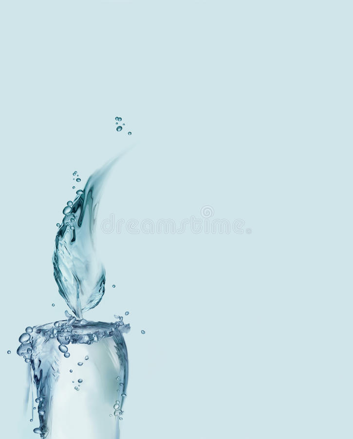 Download De Blauwe Kaars Van Het Water Royalty-vrije Stock Foto - Afbeelding: 10779515