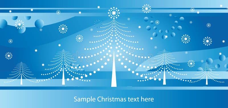 De blauwe kaart van Kerstmis stock illustratie