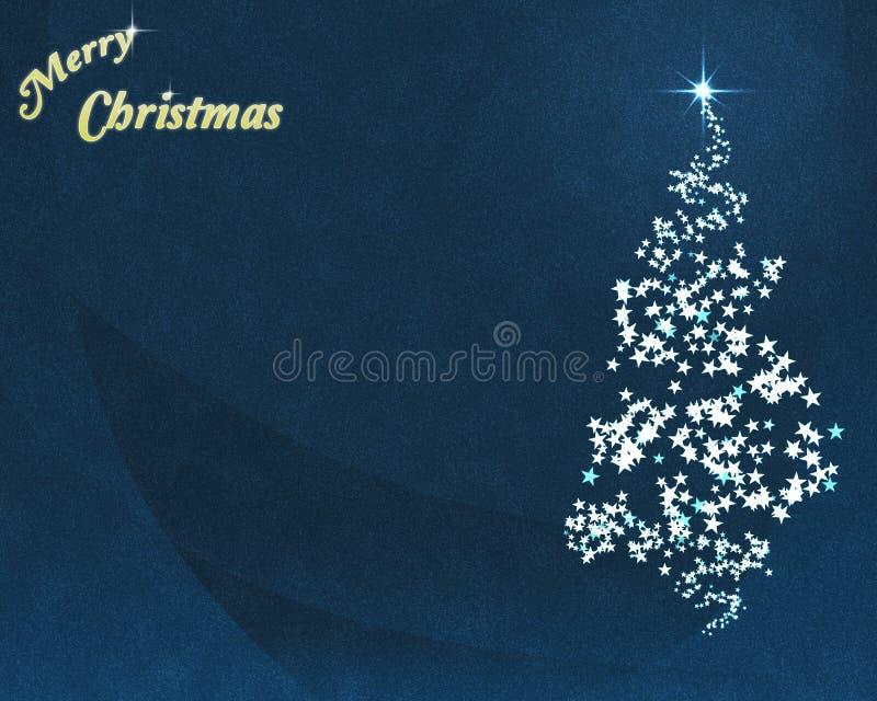De blauwe Kerstboom van de Ster stock illustratie