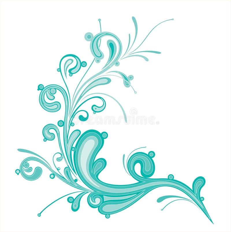 De blauwe kleur bloeit stock illustratie