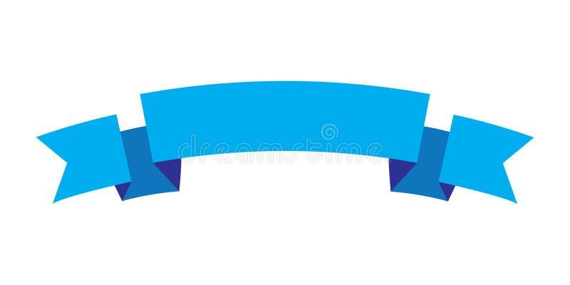De blauwe kleur van het lintontwerp, Lintpictogram vector illustratie