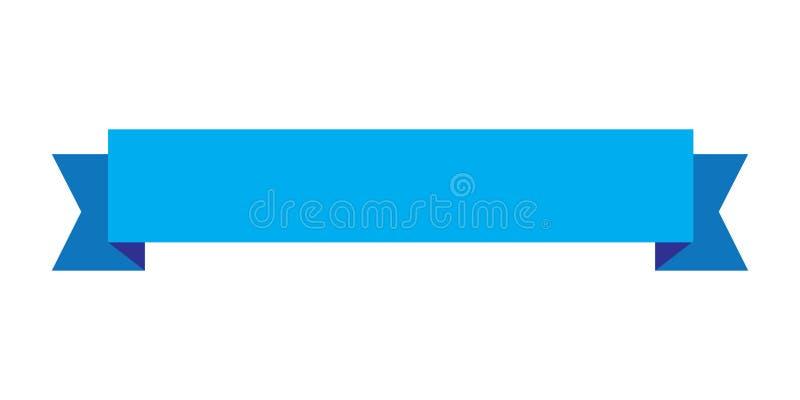 De blauwe kleur van het lintontwerp, Lintpictogram royalty-vrije illustratie