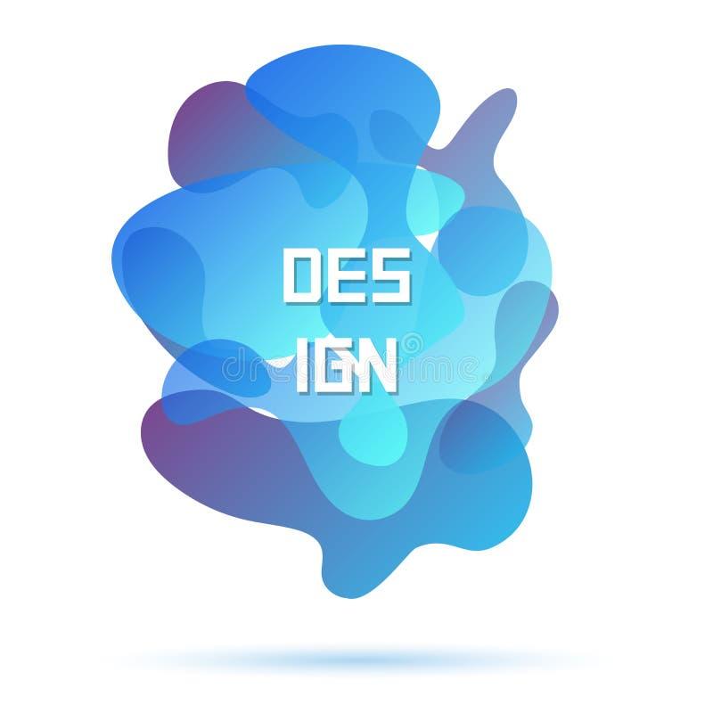De blauwe kleuren, vatten modern grafisch element samen vector illustratie