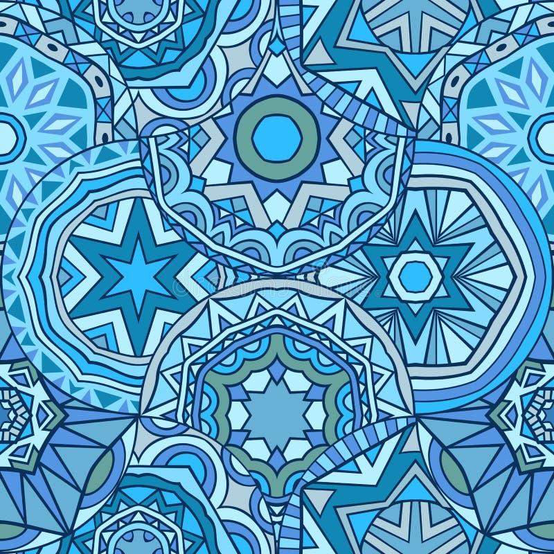 De blauwe kleuren vatten naadloos patroon samen royalty-vrije illustratie