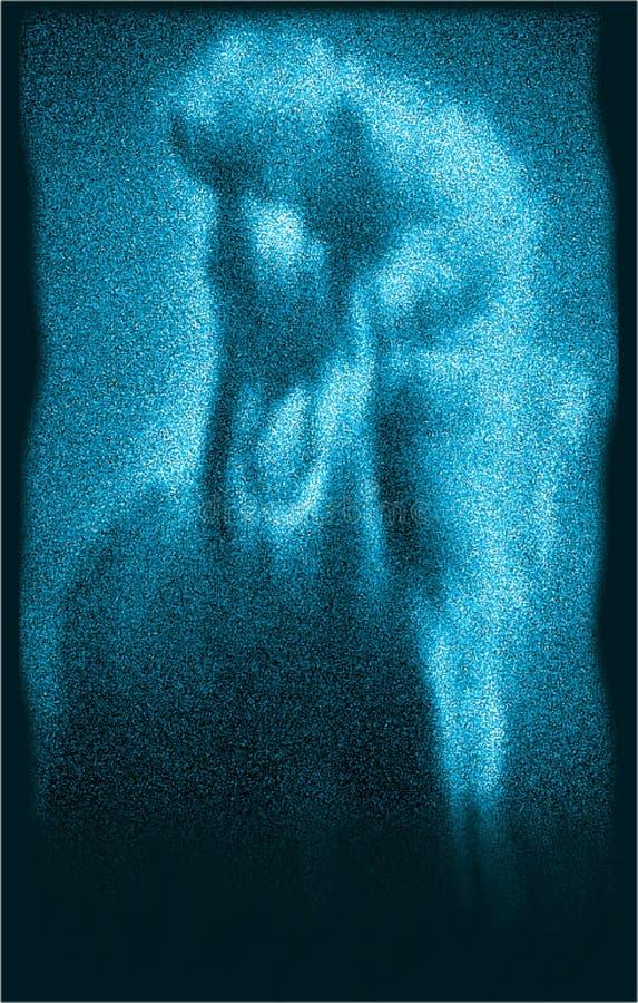 De blauwe kleurenmat en de glitering paardcomputer produceerden illustraion en vectorbeeldontwerp royalty-vrije illustratie