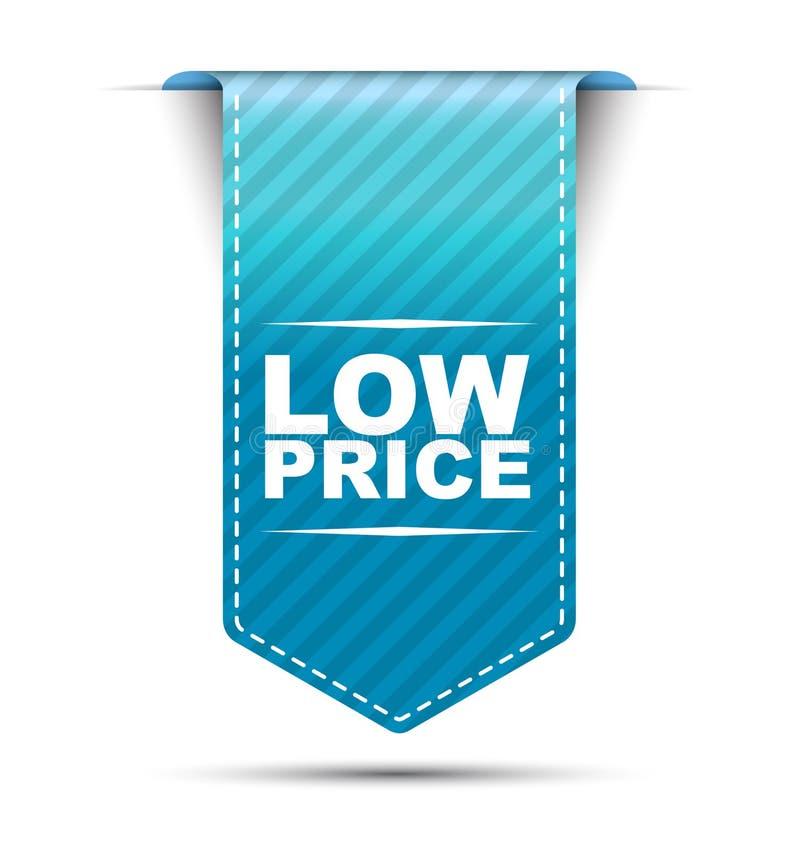 De blauwe lage prijs van het bannerontwerp royalty-vrije illustratie