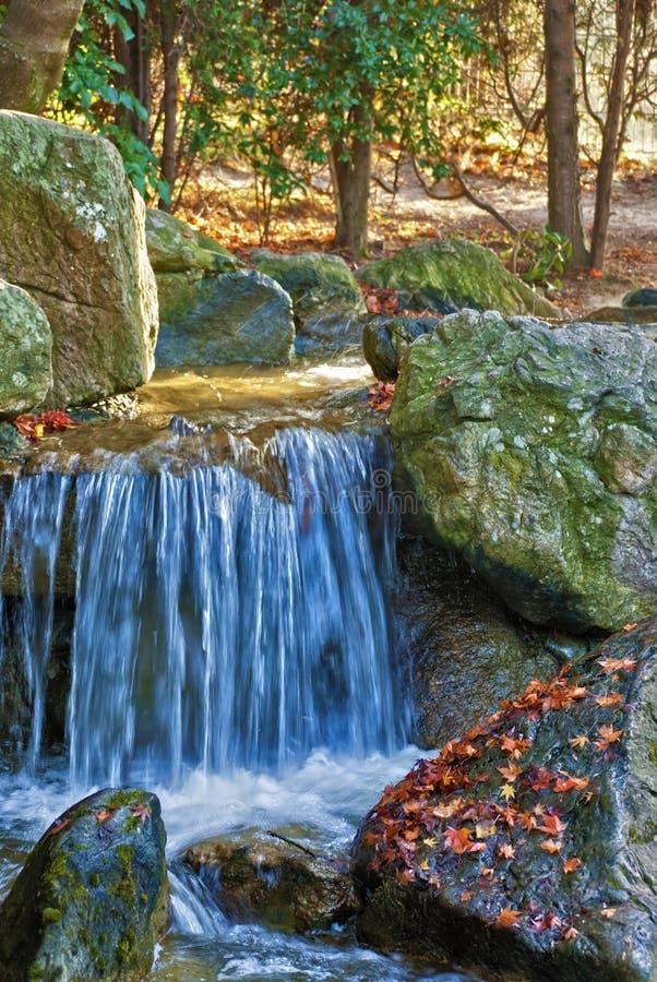 De blauwe Lente van het Water stock afbeelding