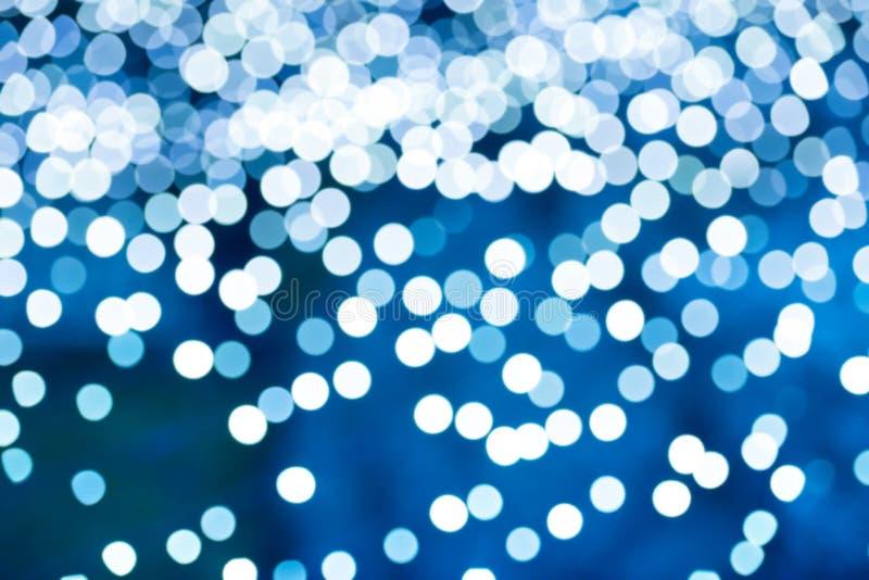 De blauwe lichten van de onduidelijk beeldvakantie stock afbeelding