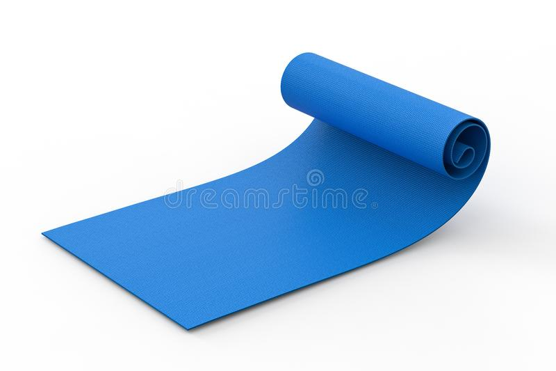 De blauwe Mat van de Yoga vector illustratie