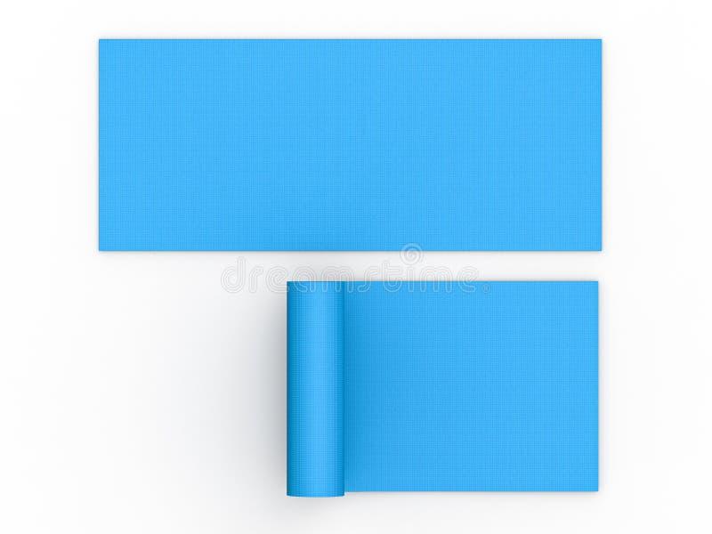 De blauwe Mat van de Yoga stock illustratie