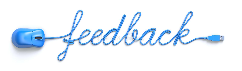 De blauwe muis en de kabel in de vorm van koppelen woord terug vector illustratie