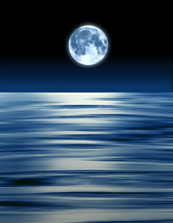 De blauwe Oceaan van de Maan stock foto