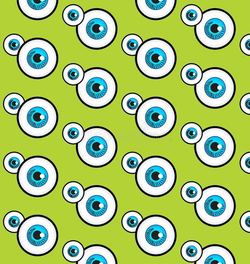 De blauwe oogpatronen stock illustratie