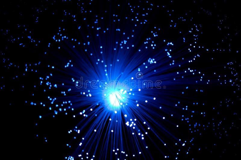 De blauwe optische vezels stock foto's
