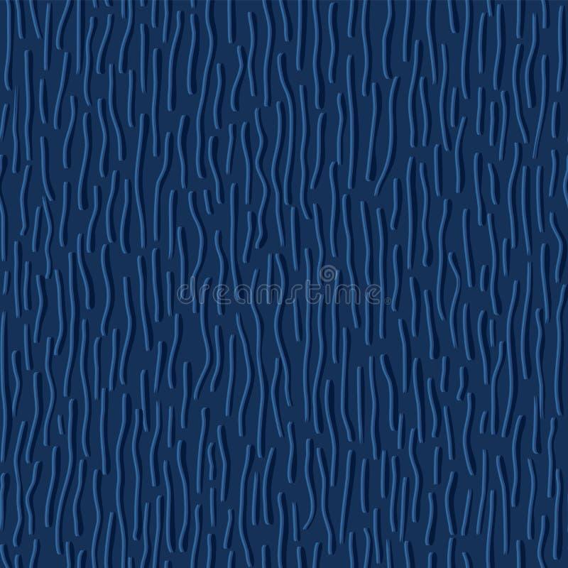De blauwe Regen laat vallen Dalende Vectorpatroon Naadloze Achtergrond vector illustratie