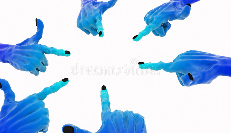 De blauwe Richtende Cirkel van de Hand vector illustratie