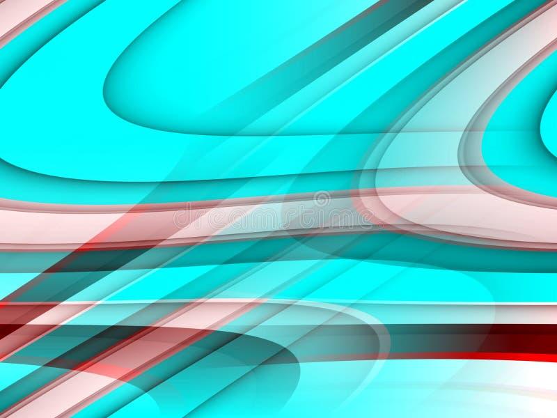 De blauwe roze tegenover elkaar stellende achtergrond, vat kleurrijke meetkunde samen stock illustratie