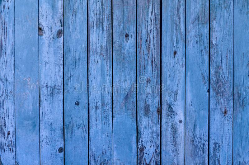 De blauwe rustieke raads houten textuur als achtergrond stock afbeelding