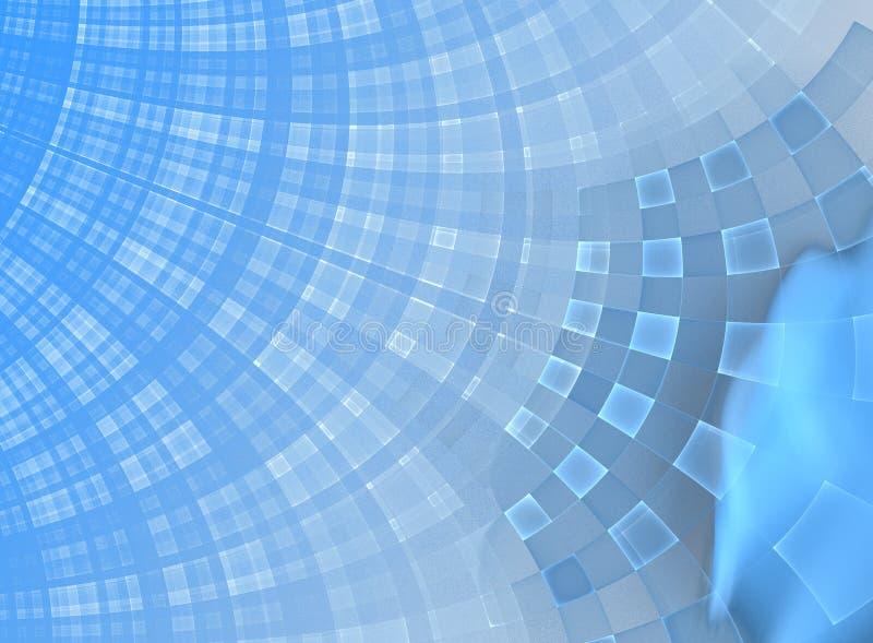 De Blauwe Samenvatting van Boxy stock afbeelding