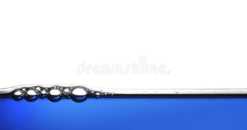 De blauwe Samenvatting van de Bellen van het water royalty-vrije stock foto