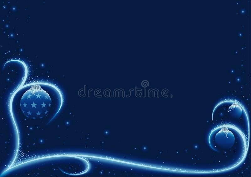 De blauwe Sneeuw van Kerstmis vector illustratie