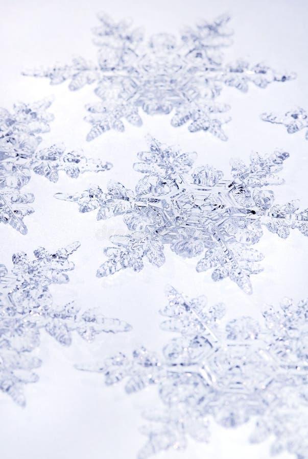 De blauwe Sneeuwvlokken van de Toon stock foto