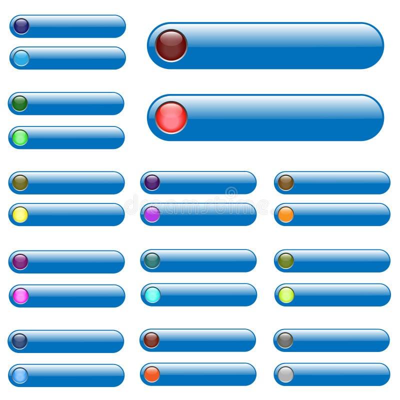 De blauwe Staven van het Web stock illustratie