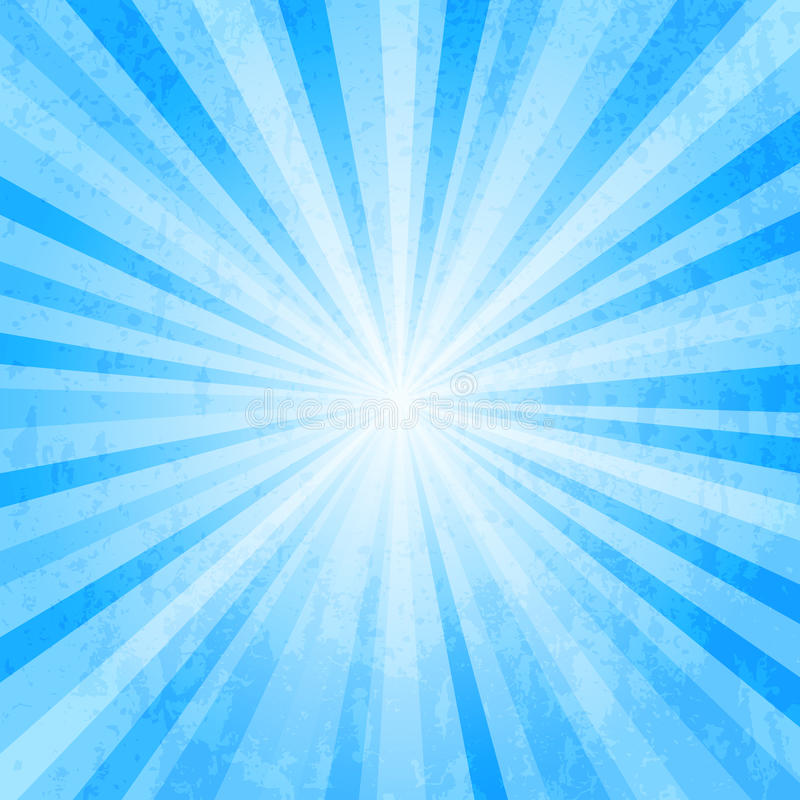 De blauwe ster barstte achtergrond vector illustratie