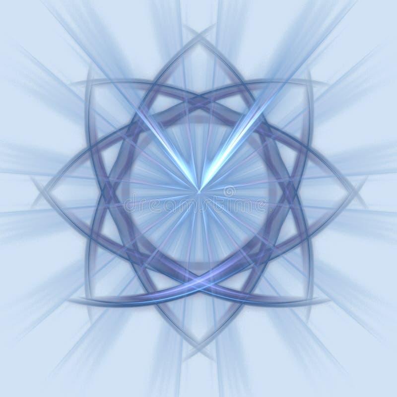 De blauwe ster van het staal vector illustratie