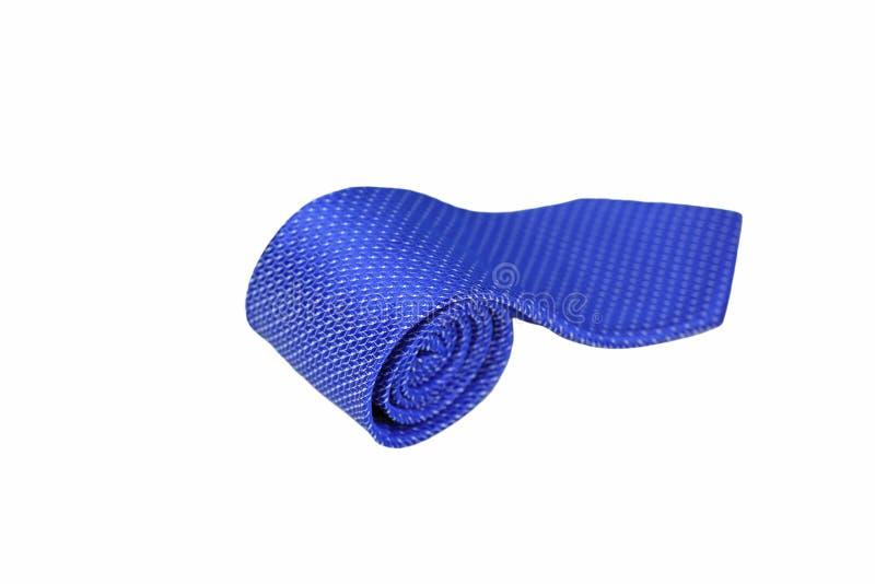 De blauwe Stropdas isoleert op witte achtergrond royalty-vrije stock afbeelding