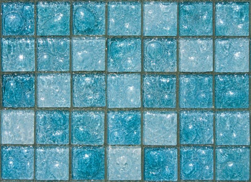 De blauwe Tegels van het Glas stock afbeeldingen