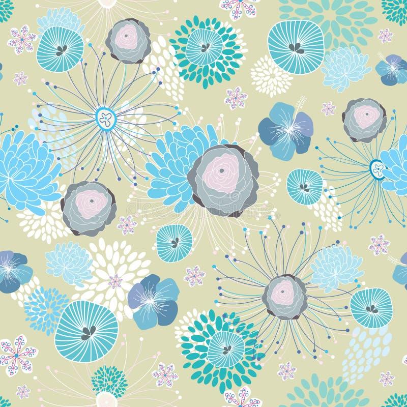 De blauwe textuur van de Bloem royalty-vrije illustratie