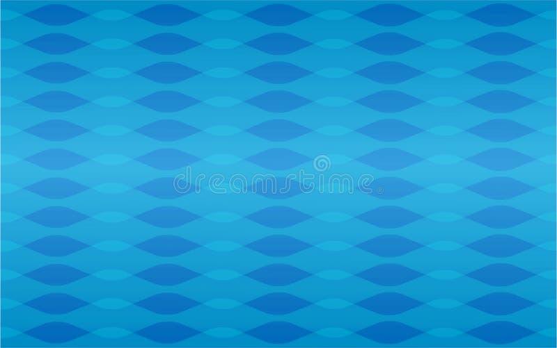 De blauwe textuur van het golven geometrische naadloze herhaalde vectorpatroon stock illustratie
