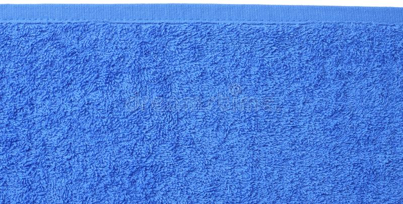 De blauwe textuur van de strandhanddoek De blauwe achtergrond van de strandhanddoek Hoogste mening royalty-vrije stock afbeeldingen