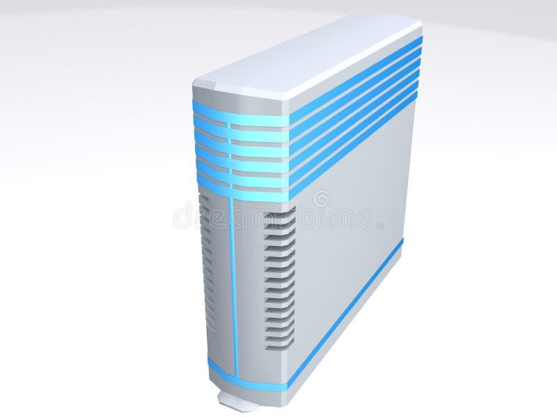 De blauwe toren van de lijnenserver royalty-vrije illustratie