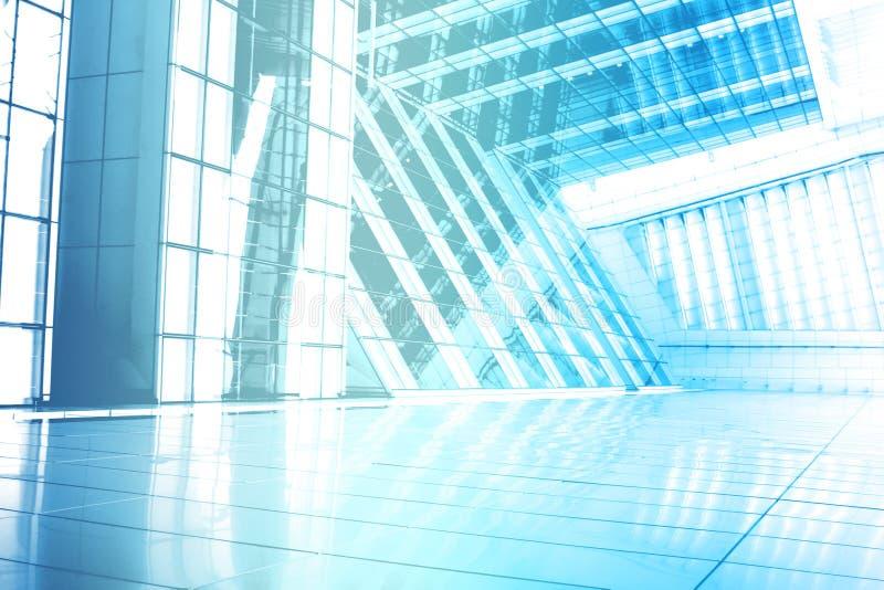 De blauwe Trendy Creatieve Abstracte Achtergrond van het Behang stock illustratie