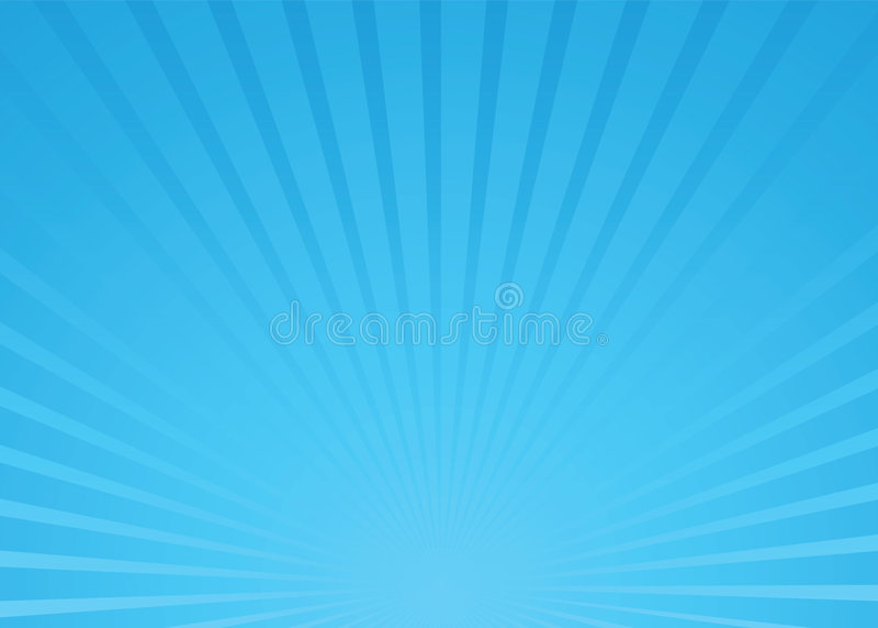 De blauwe vector van de zonnestraal stock illustratie