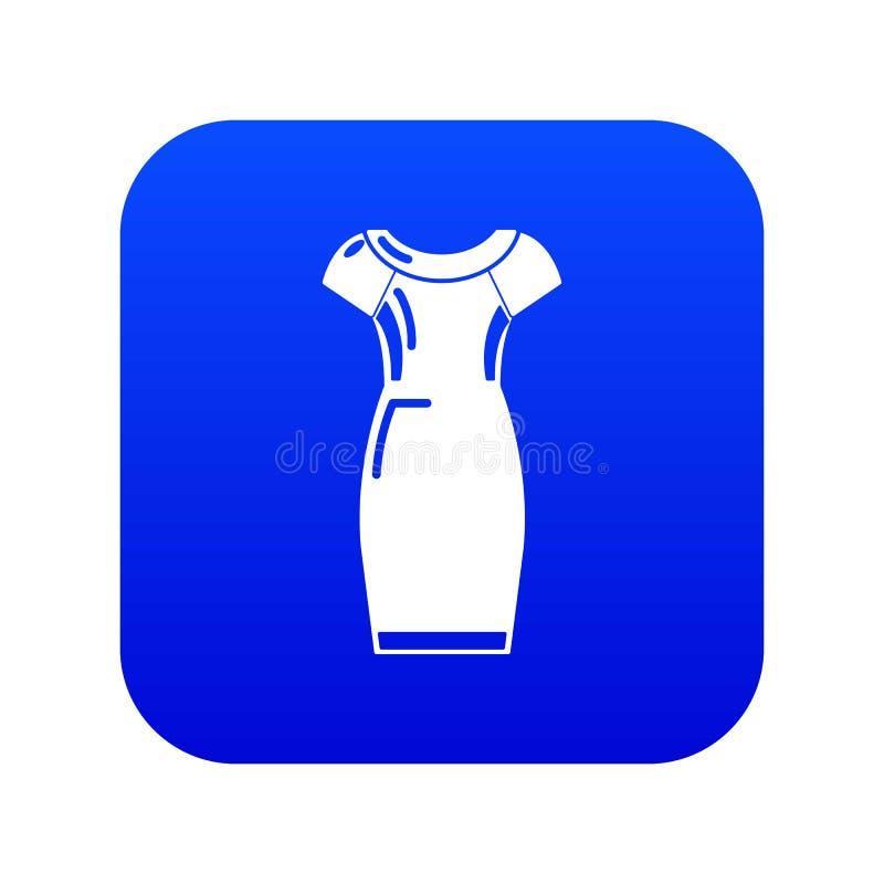 De blauwe vector van het kledingspictogram vector illustratie
