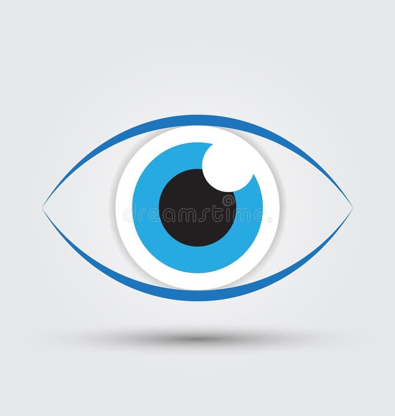De blauwe vector van het oogpictogram royalty-vrije illustratie