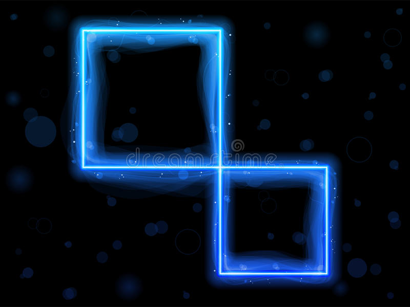 De blauwe Vierkante Achtergrond van de Grens royalty-vrije illustratie