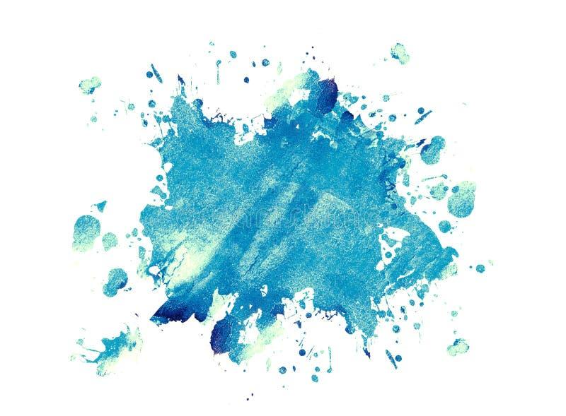 De blauwe vlek van de inkt royalty-vrije illustratie